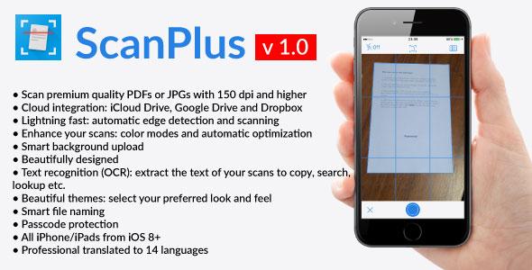ScanPlus - iOS PDF Document Scanner App - CodeCanyon Item for Sale