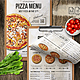Pizza Elegant Menu - A4 and US Letter - GraphicRiver Item for Sale