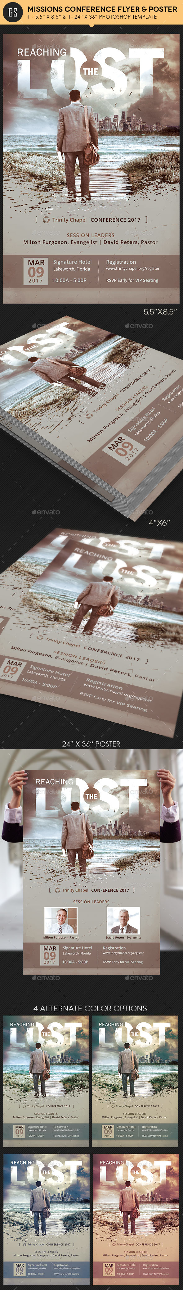 Missions Conference Flyer Poster Template - Church Flyers