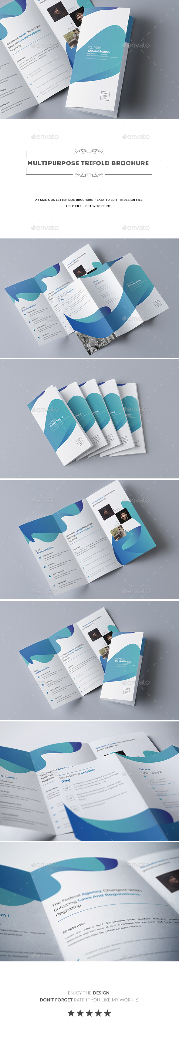 Multipurpose Trifold Brochure - Corporate Brochures