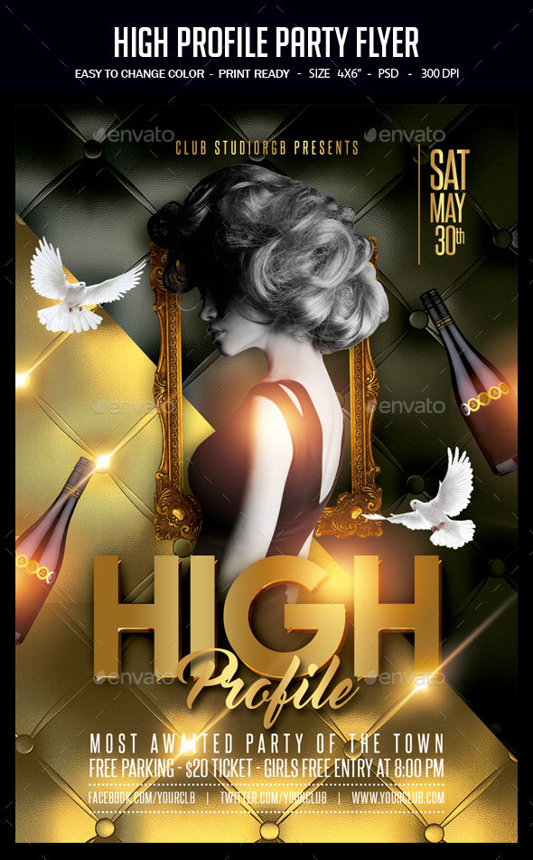 High Profile Party Flyer - Clubs & Parties Events