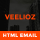 Veelioz Email Template Pack, PSD + HTML Included