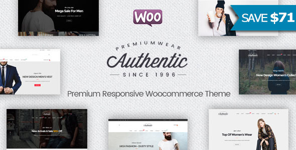 Authentic - Multipurpose Responsive WooCommerce WordPress Theme - WooCommerce eCommerce