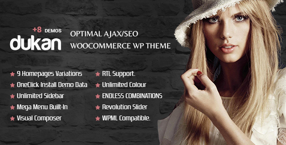 DUKAN - Optimal AJAX/SEO WooCommerce Multipurpose WP Theme