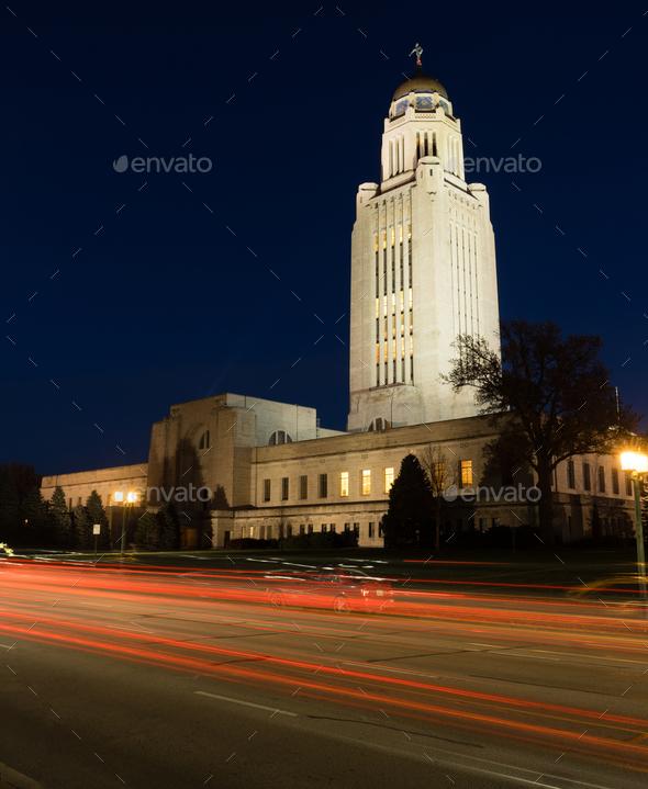 Lincoln Nebraska Capital Building Government Dome Architecture - Stock Photo - Images