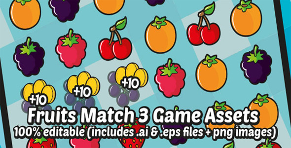 Fruit Jewel Match 3 Android Game - CodeCanyon Item for Sale