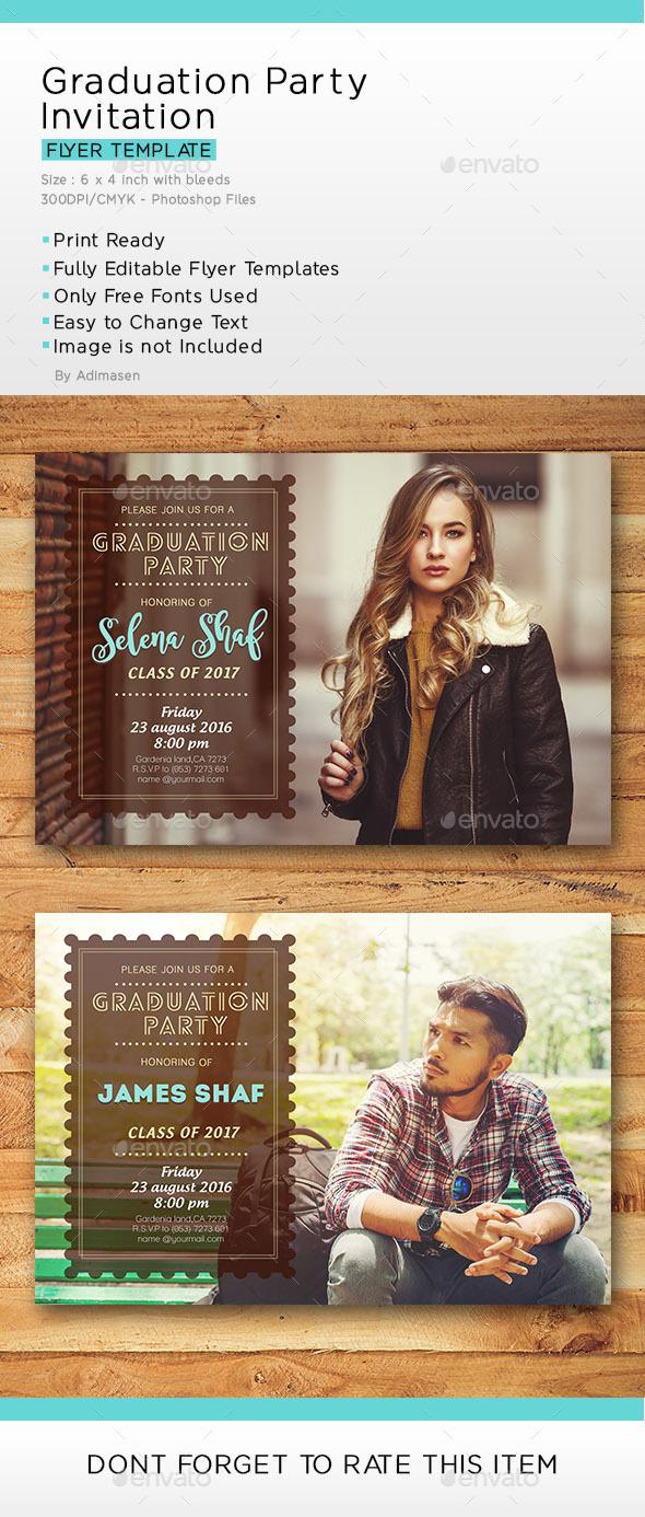Graduation Party Invitation - Invitations Cards & Invites