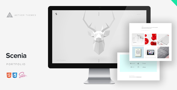 Scenia - Cutting Edge HTML Portfolio - Creative Site Templates