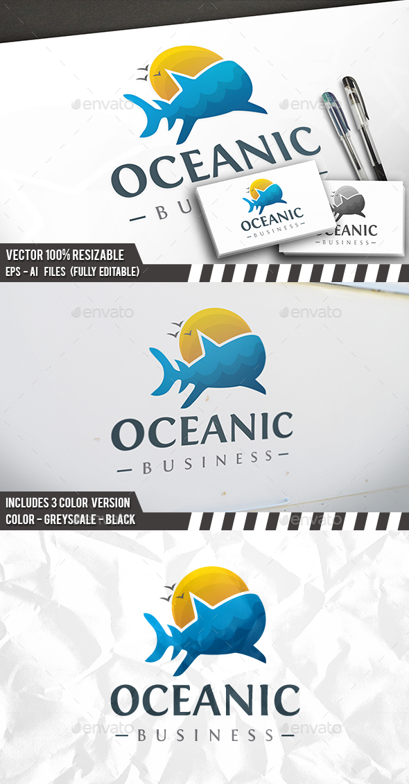 Oceanic Life Logo - Food Logo Templates