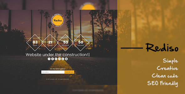Rediso Creative Under Construction Template - Under Construction Specialty Pages