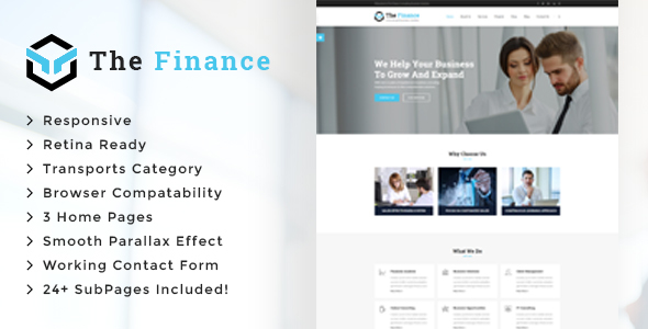 The Finance - Business Consulting and Professional Services HTML Template - Business Corporate
