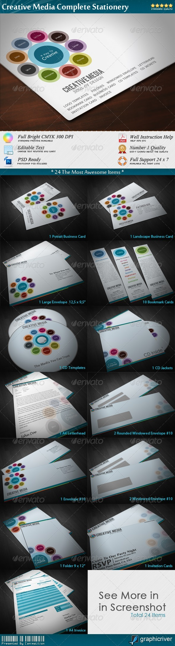 Creative Media Complete Stationery - Stationery Print Templates