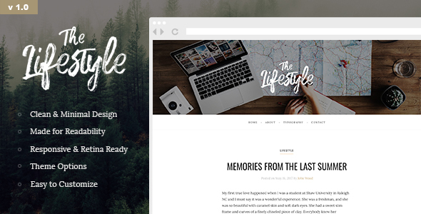 The Lifestyle – Elegant and Simple WordPress Blog Theme