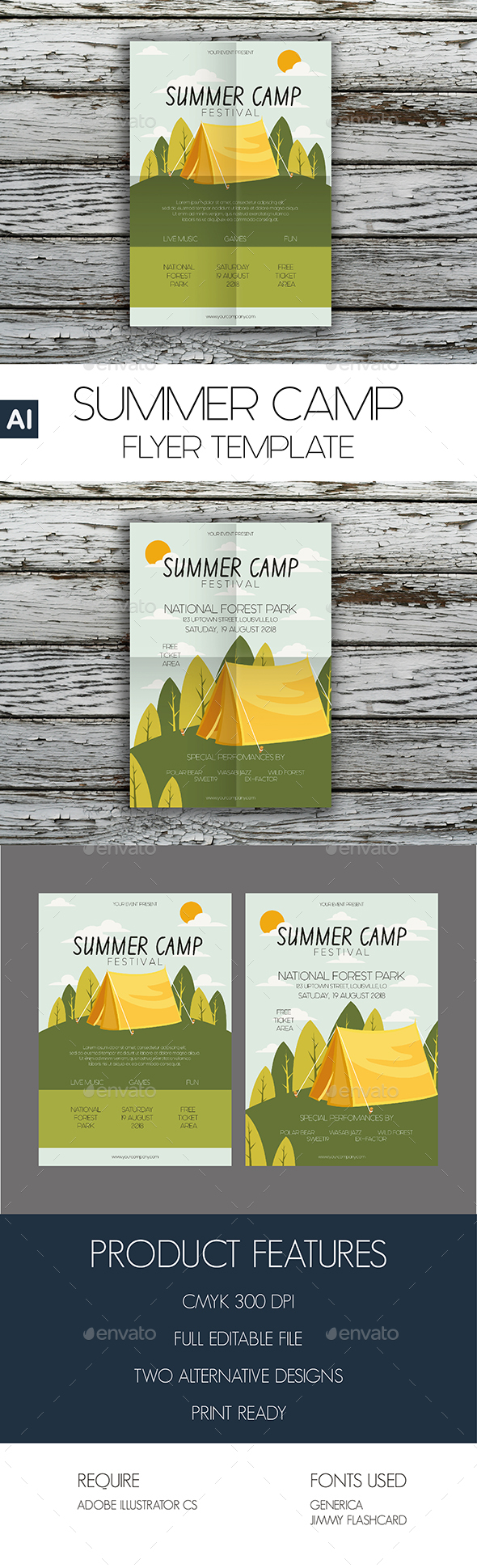 Summer Camp Flyer Template - Events Flyers