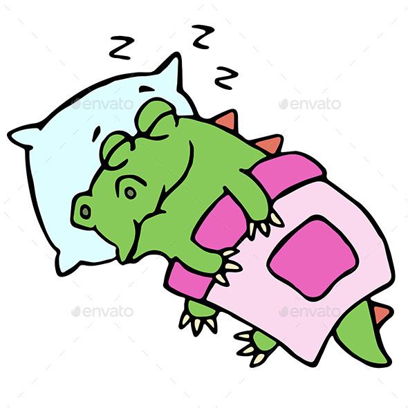 Sleeping Dinosaur - Animals Characters