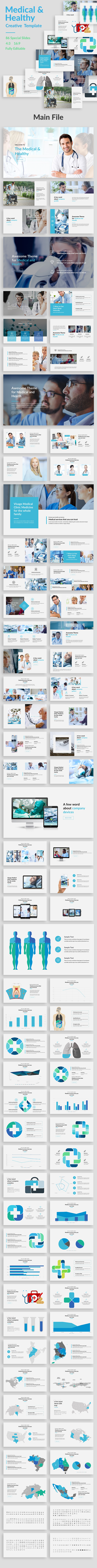 Medical and Healthy Google Slide Template - Google Slides Presentation Templates