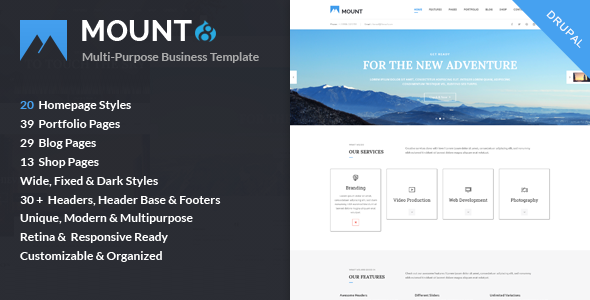 Image of Mount – Multi-purpose Business Drupal 8 Theme