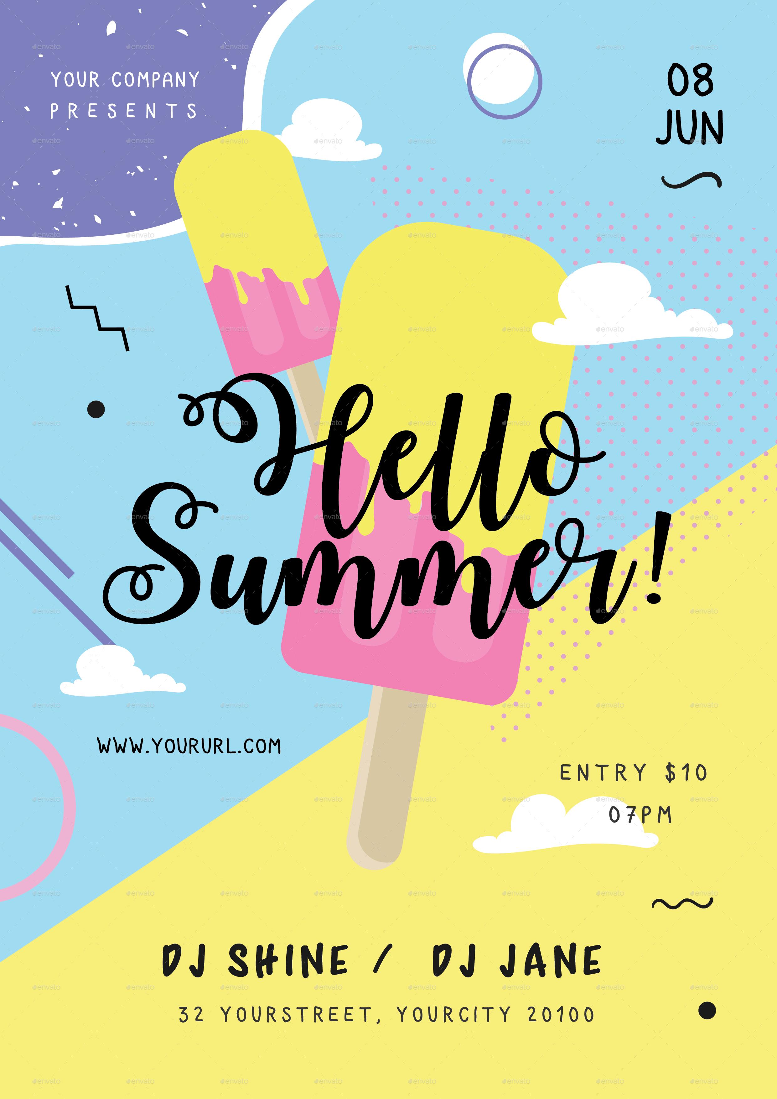 summer festival flyer by infinite78910
