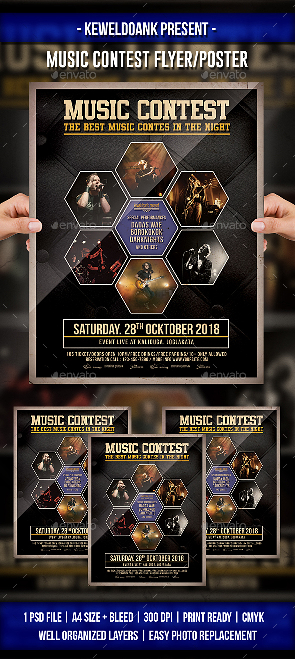 Music Contest Flyer / Poster - Events Flyers