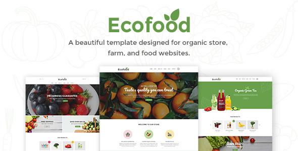 Ecofood - Responsive Organic Food, Organic Store & Farm PSD Template