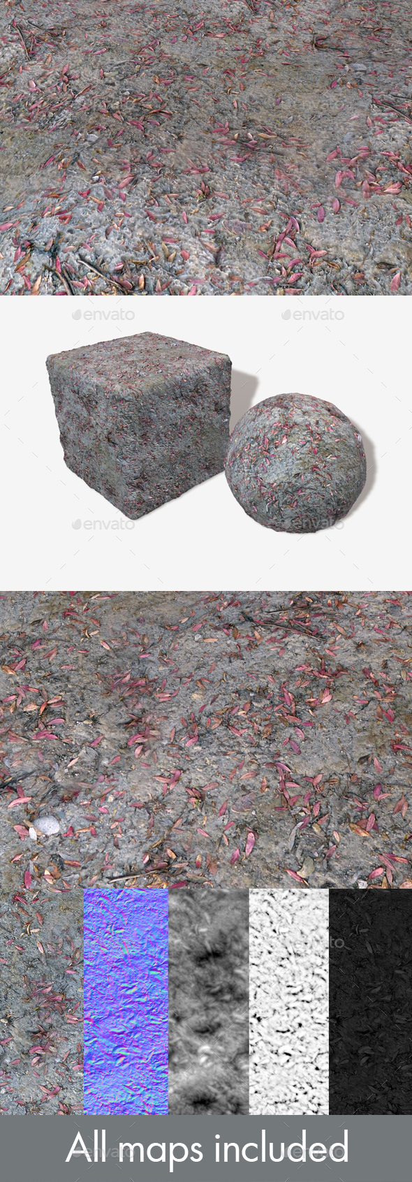Dry Dead Ground Seamless Texture - 3DOcean Item for Sale