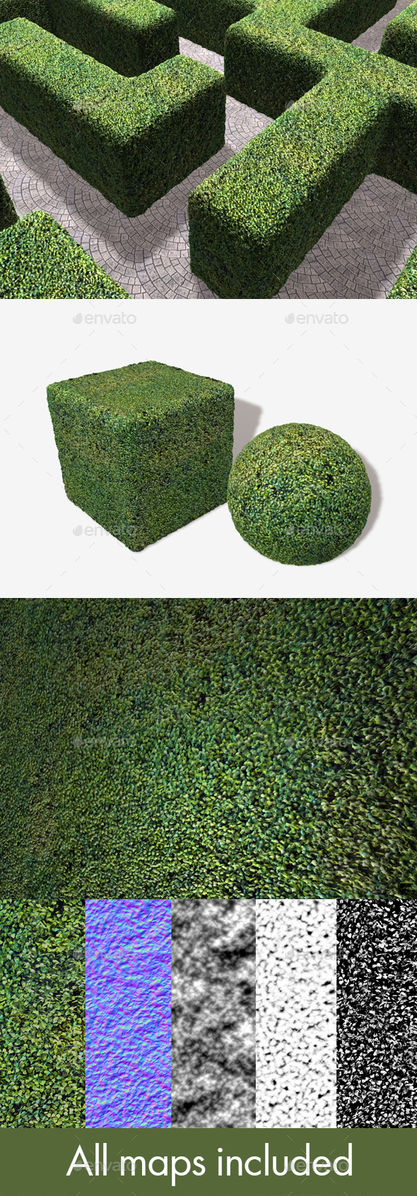 Fake Astro Hedge Seamless Texture - 3DOcean Item for Sale