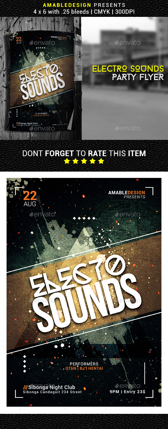 Electro Sounds Flyer - Events Flyers