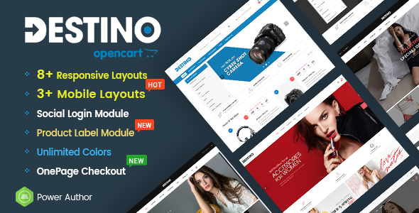 Destino – Multipurpose eCommerce OpenCart 2.3 Theme With Mobile-Specific Layouts