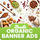 Organic Comestic, Fresh Food Banner Ads