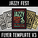 Jazzy Fest Flyer Template V3 - GraphicRiver Item for Sale