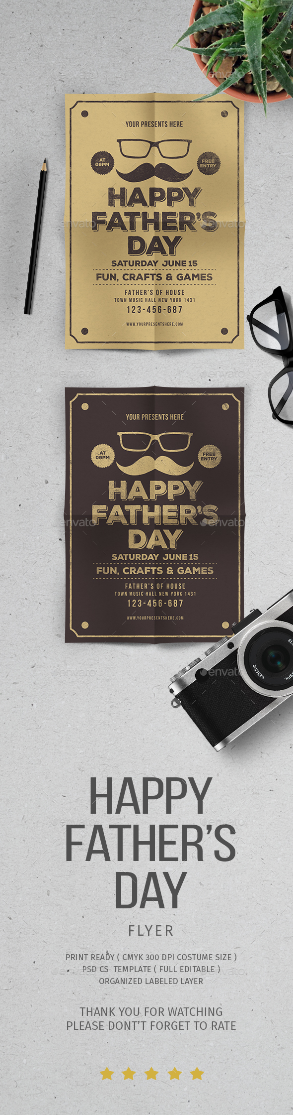 Father's Day Flyer - Flyers Print Templates
