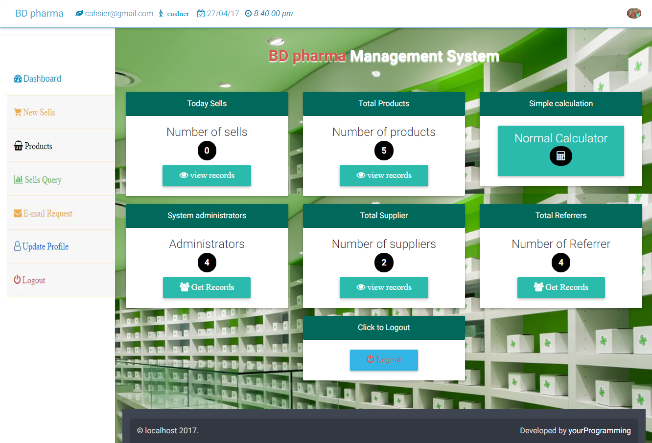 Pharmacy Management System Bootstrap Pos Cms By