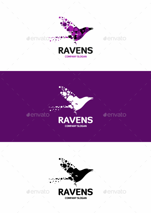 Crow Logo - Animals Logo Templates