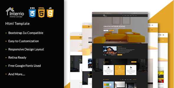 Interrio - Corporate Architecture and Interior Design, Responsive Html5 Template - Business Corporate