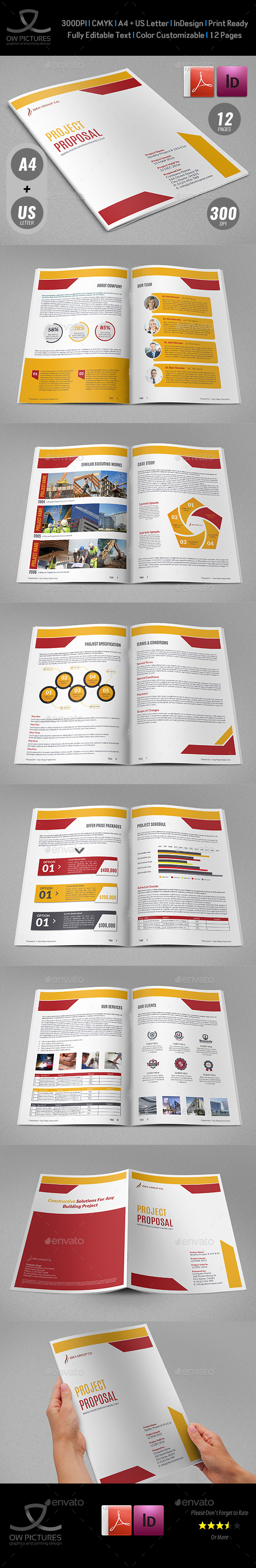 Construction Company Proposal Template Vol.4 - Proposals & Invoices Stationery