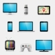 Electronic Devices and Multimedia Gadgets Icons - GraphicRiver Item for Sale