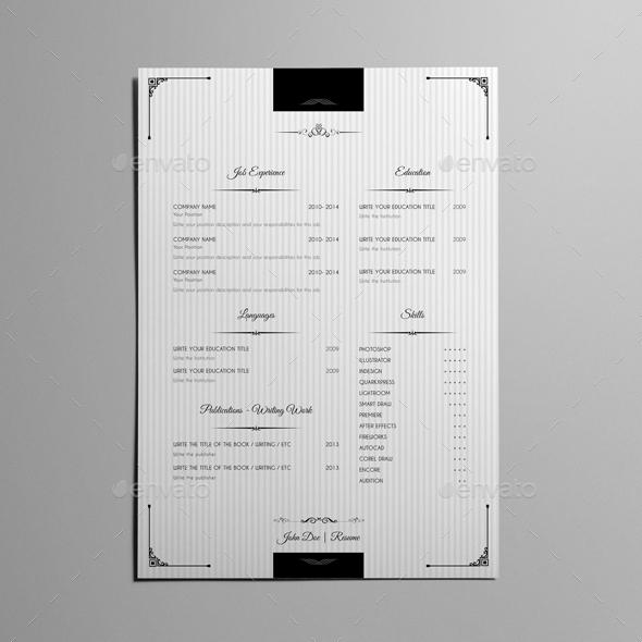 royal vintage resume template by keboto