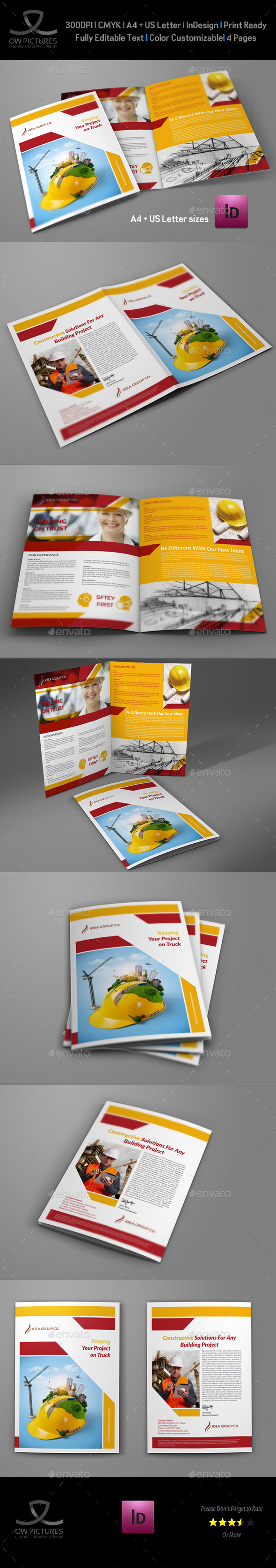 Construction Company Brochure Bi-Fold Vol.2 - Corporate Brochures