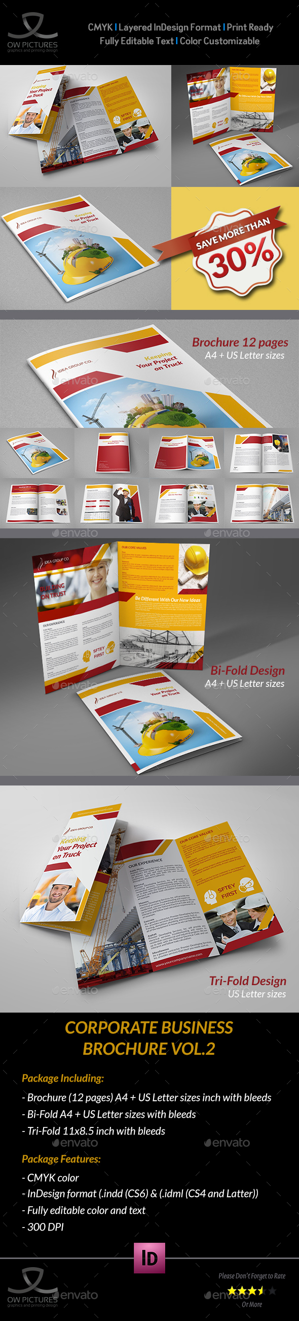 Construction Company Brochure Bundle Vol.2 - Corporate Brochures