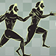 Ancient Greek Runners Silhouette With Alpha Channel