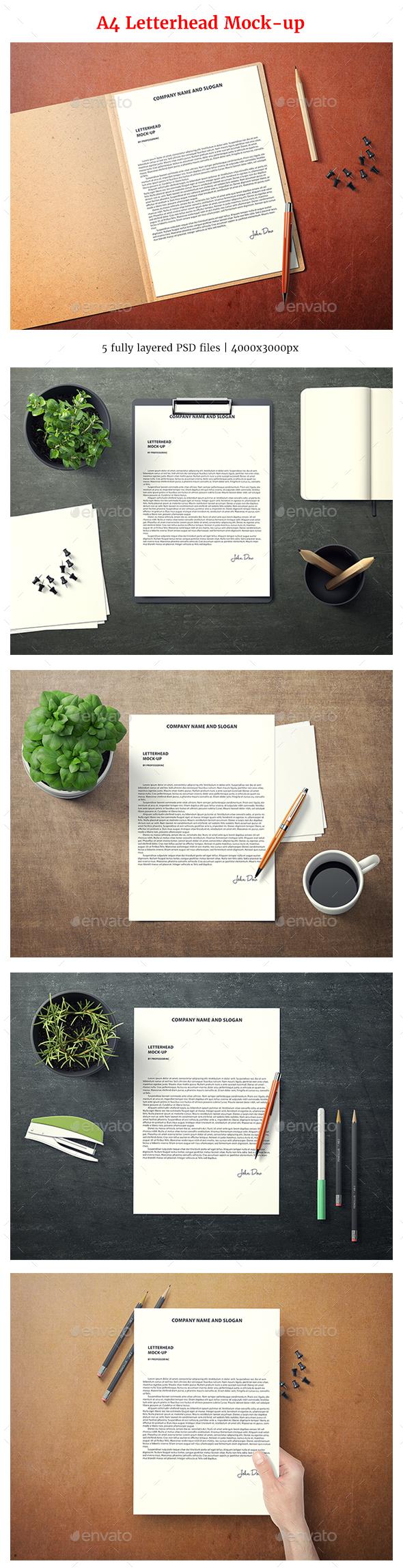 A4 Letterhead Mock-Up - Miscellaneous Print