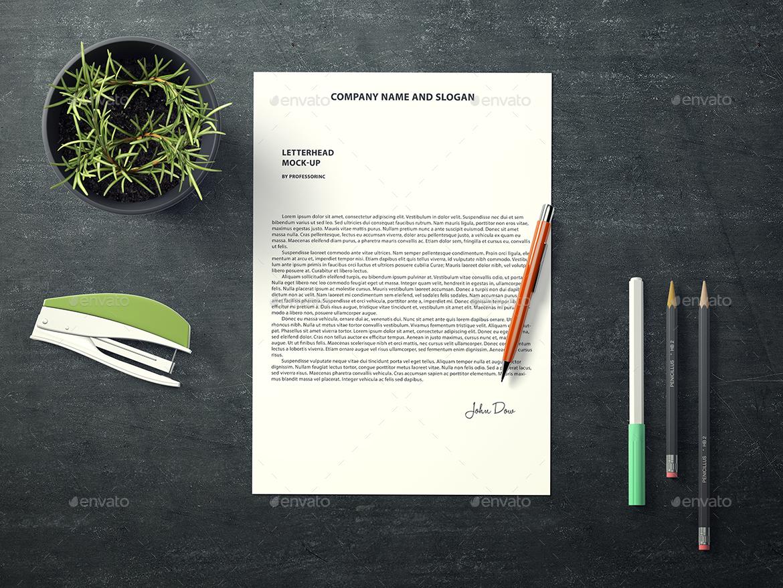 a4 letterhead mock up by professorinc graphicriver