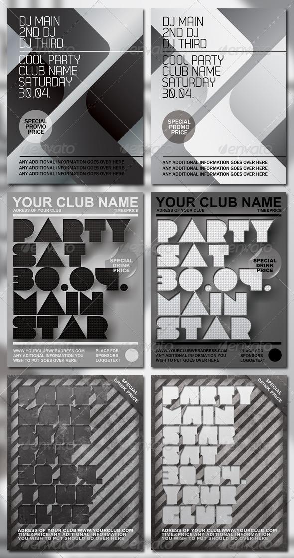 Party Flyer Bundle - Flyers Print Templates