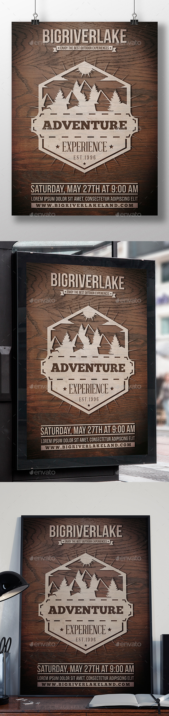 Big River Lake Flyer Template - Miscellaneous Events