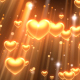 Hearts Gold Background