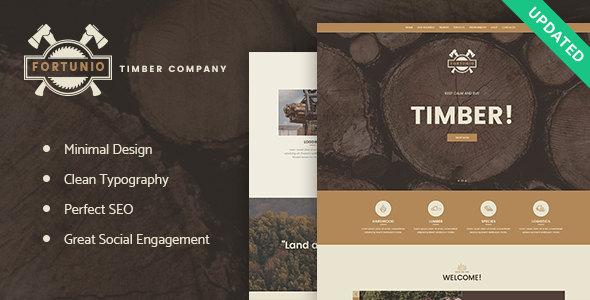 Fortunio - Timber / Forestry / Wood Manufacture WordPress Theme