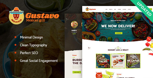 Gustavo | Mexican Grill, Bar & Restaurant WordPress Theme - Restaurants & Cafes Entertainment