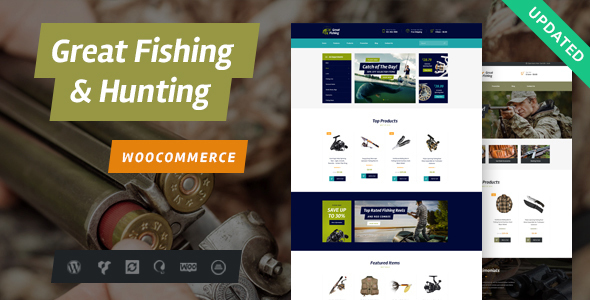 Fishing and Hunting WordPress Theme - Travel Retail