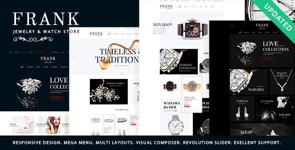 Jewelry & Watches Online Store - WooCommerce eCommerce