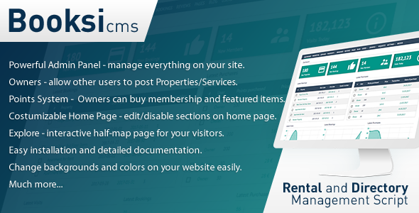 Booksi - Property & Vacation Rental Management CMS - CodeCanyon Item for Sale
